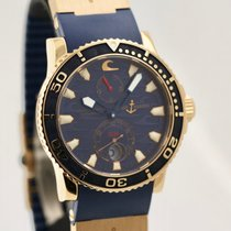 Ulysse Nardin Rose gold Automatic Blue No numerals 43mm pre-owned Marine