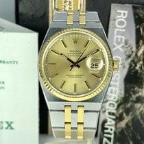 Rolex Datejust Oysterquartz Guld/Stål 36mm Champagnefärgad Inga siffror
