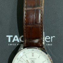 TAG Heuer Carrera Calibre 7 pre-owned 39mmmm White Leather