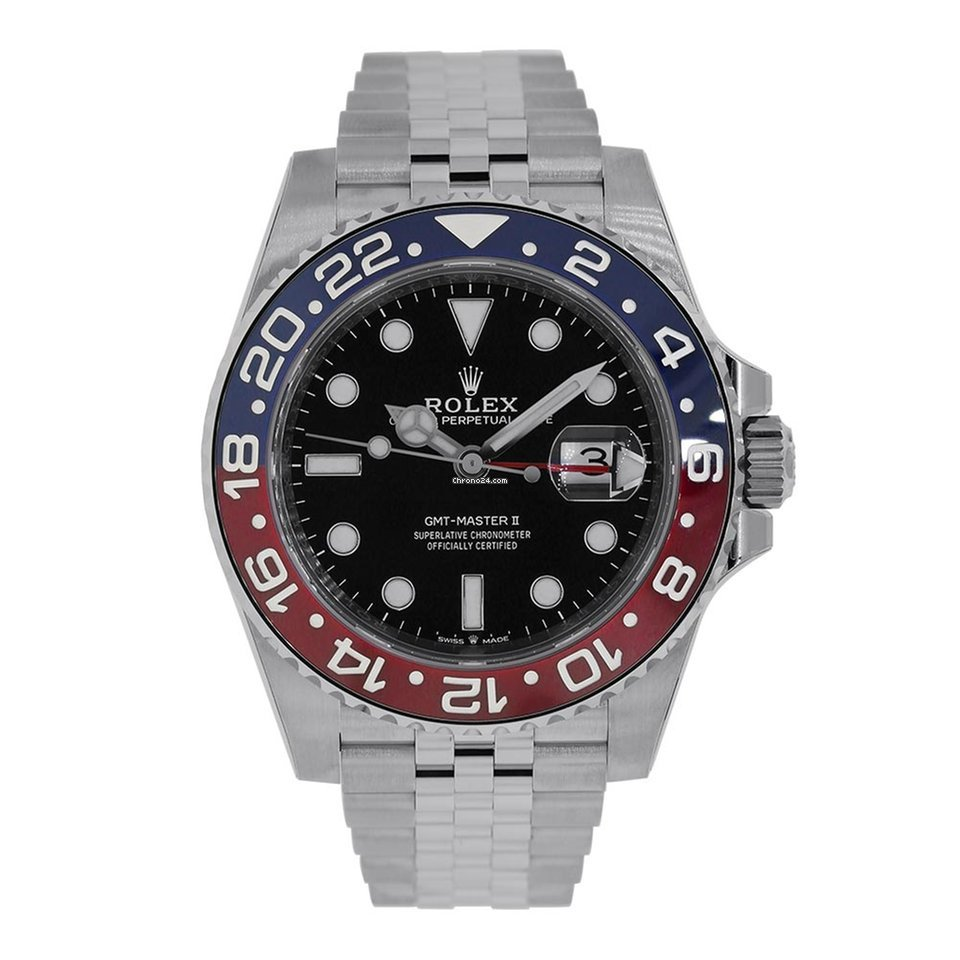 Rolex GMT-MASTER II Stainless Steel Red & Blue Pepsi Bezel 126710