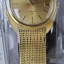 Omega Yellow gold Champagne 34mm pre-owned Constellation