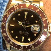 Rolex Yellow gold Automatic Brown No numerals 40mm pre-owned GMT-Master