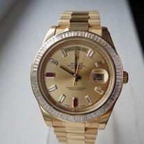 Rolex Day-Date II Gelbgold Braun