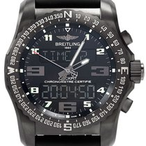Breitling Cockpit B50 Titanium Case Rubber Black Watch...
