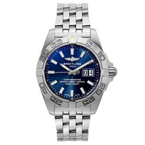Breitling Galactic 41, A49350L2/C929/366A, Blue Dial, St. Steel