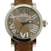 Locman Toscano Steel 30mm Brown Roman numerals