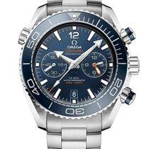 Omega Seamaster Planet Ocean Chronograph Acero 45.5mm Azul