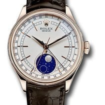 Rolex Cellini Moonphase Rózsaarany 39mm Fehér