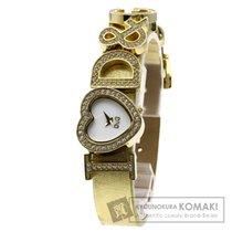 Dolce & Gabbana I Love D&G 腕時計 GP/革 レディース 【中古】【ドルチェアンドガッバーナ】