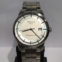 Tissot Luxury Automatic Acier 41mm Argent Sans chiffres