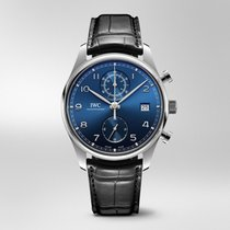 IWC Portugieser Chronograph Stahl 42mm Blau Arabisch