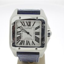 Cartier Santos 100 pre-owned 38mm White Leather