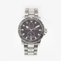 Ulysse Nardin Maxi Marine Diver pre-owned 42mm Black Steel