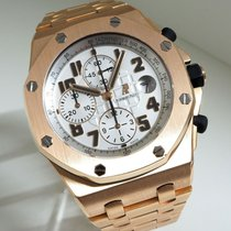 Audemars Piguet Red gold White 42mm pre-owned Royal Oak Offshore