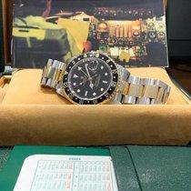 Rolex GMT-Master II Zlato/Ocel 40mm Černá Bez čísel