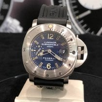 Panerai Luminor Submersible Acciaio 44mm Blu Arabo Italia, Roma