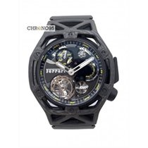 Hublot Techframe Ferrari Tourbillon Chronograph Koolstof 43mm Zwart
