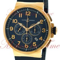 Ulysse Nardin Marine Chronograph Rose gold 43mm Blue Arabic numerals United States of America, New York, New York