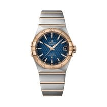 Omega Constellation Men Goud/Staal 38mm Blauw Romeins