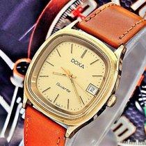 Doxa nuevo Cuarzo Segundero central Serie limitada Quick set/cambio rápido Estado original/piezas originales 35mm Acero y oro Cristal mineral