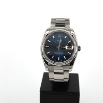Rolex Oyster Perpetual Date Сталь 34mm Без цифр