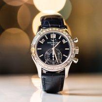 Patek Philippe Annual Calendar Chronograph Oro rosado 40.5mm Azul Sin cifras