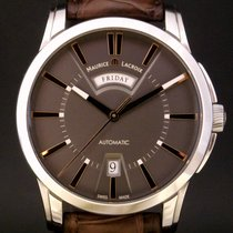 Maurice Lacroix Pontos Day Date Steel 41mm Grey Roman numerals