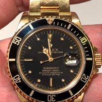 Rolex Submariner Date Жёлтое золото 40mm Чёрный Без цифр