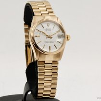 Rolex Or rouge Remontage automatique Blanc Sans chiffres 31mm occasion Datejust