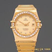 Omega Constellation  18K  Gold  Diamonds Lady  Box