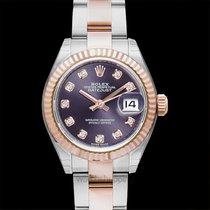 Rolex Pозовое золото Автоподзавод Фиолетовый 28mm новые Lady-Datejust