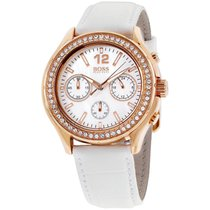 Hugo Boss Mother Of Pearl Dial Leather Strap Ladies Watch 1502261