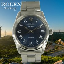 Rolex Air King Precision Acero 34.5mm Azul Sin cifras