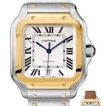 Cartier Santos (submodel) Золото/Cталь 39.8mm Cеребро Римские