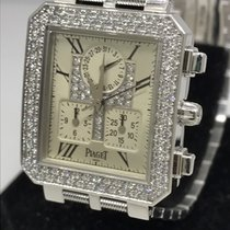 5ff922d8a31 Piaget Protocole 18k White Gold Diamond Chronograph ...