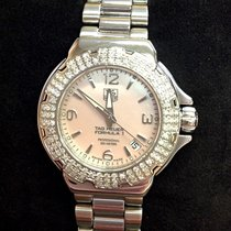 TAG Heuer Steel Quartz Mother of pearl Arabic numerals 34mm pre-owned Formula 1 Lady