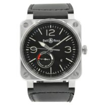 Bell & Ross BR 03-97 Réserve de Marche Steel 42mm Black Arabic numerals United States of America, New York, NYC
