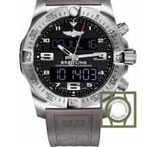 Breitling B55 Exospace Titanium Black dial TwinPro Grey strap...