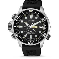 Citizen Steel 46,5mm Quartz BN2036-14E CITIZEN Promaster Acciaio Nero Gomma 46,5mm new
