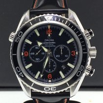 Omega Seamaster Planet Ocean Chronograph Steel 40mm Black Arabic numerals
