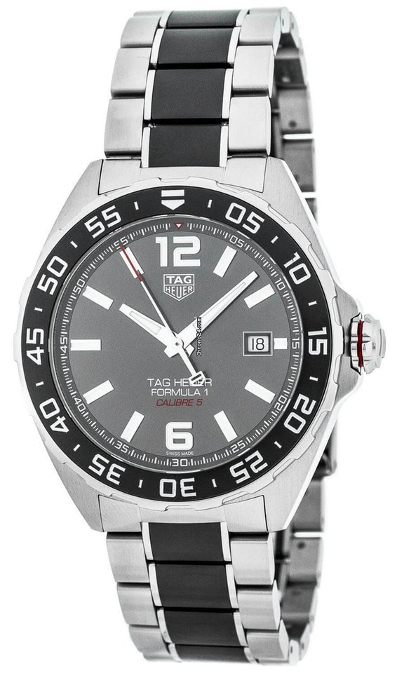 Tag Heuer Formula 1 Anthracite Dial 43mm Automatic Ss Men S Watch Waz2011 Ba0843
