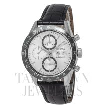 TAG Heuer Steel Automatic Silver 41mm pre-owned Carrera Calibre 16