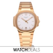 Patek Philippe Nautilus Rose gold 35mm Silver Arabic numerals