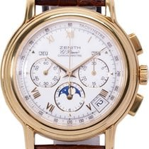 Zenith Yellow gold Automatic 40mm pre-owned El Primero Chronomaster