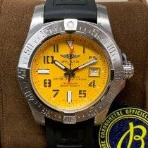 Breitling Avenger II Seawolf Aço 45mm Amarelo Árabes