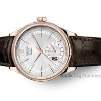 Rolex Cellini Dual Time Oro rosa 39mm Blanco Sin cifras