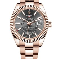 Rolex Sky-Dweller Rose gold 42mm Brown Roman numerals United States of America, New York, New York