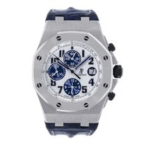 Audemars Piguet Steel Automatic White Arabic numerals 44mm pre-owned Royal Oak Offshore Chronograph