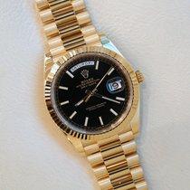 Rolex Day-Date 40 Yellow gold 40mm Black No numerals UAE, Gold and Diamond Park Bldg. 5 Shop 6 Dubai