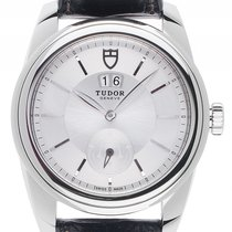 Tudor Steel Automatic Silver 42mm new Glamour Double Date